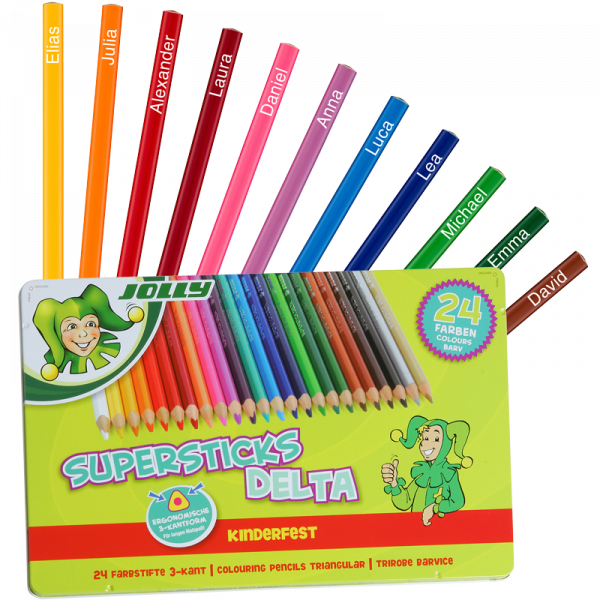 JOLLY Supersticks Delta Farbstifte, 24 Farben