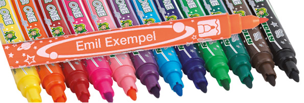 Fiber pens with your name