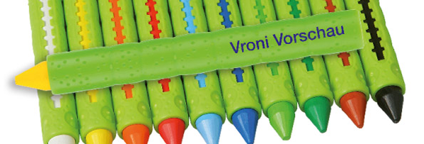 Wax crayons with your name